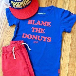 "Prefresh ""Blame the Donuts"" ss tee shirt"